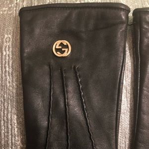 Gucci Other - Gucci all leather gloves